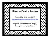 Literary Device Poster Set - Chevron Background