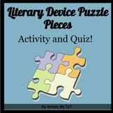 Literary Device Puzzle Pieces and Quiz
