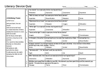 Literary Device Quiz