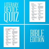 Literary Device Quiz (Bible Edition) + Answers