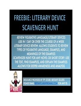 Literary Device Scavenger Hunt