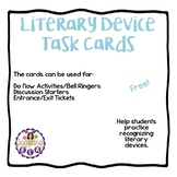Literary Device Task Cards (Free)
