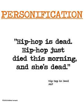 Literary Device Word Wall Using Hip-Hop Lyrics