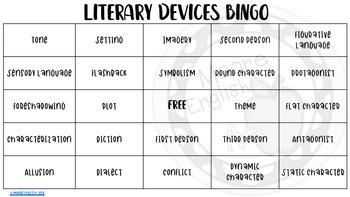 Literary Devices BINGO
