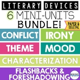Literary Devices Bundle:  6 Fun Mini-Units to Teach Critic