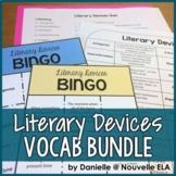 Literary Devices Bundle: Vocabulary List, BINGO, and Quiz