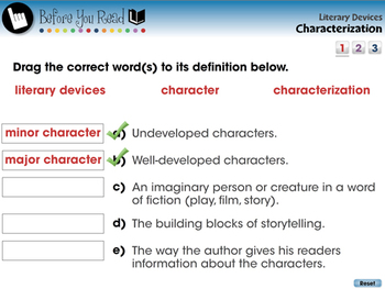Literary Devices: Characterization - NOTEBOOK Gr. 3-8