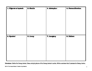 Literary Devices Chart Activity and Self-Assessment