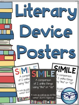 Literary Devices Classroom Posters By The Owl Spot Tpt