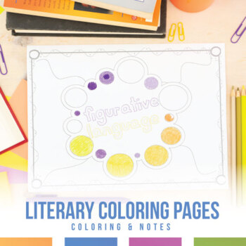 Literary Devices Coloring Sheets by Language Arts ...