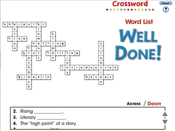 Literary Devices: Crossword - NOTEBOOK Gr. 3-8