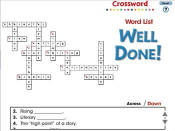 Literary Devices: Crossword - PC Gr. 3-8