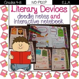Literary Devices- Doodle Notes & Interactive Notebook Distance Learning