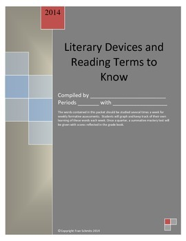 Literary Devices (Elements) and Reading Terms BUNDLE
