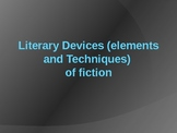 Literary Devices & Elements of Plot Powerpoint