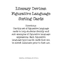 Literary Devices: Figurative Language Sorting Cards