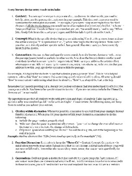 AP Literature Literary Devices Glossary Assignment