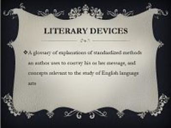 Literary Devices Glossary PowerPoint