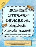Introductory Literary Devices- Gr.7-12 Worksheet; Keys, Quiz, Plus Use Ideas