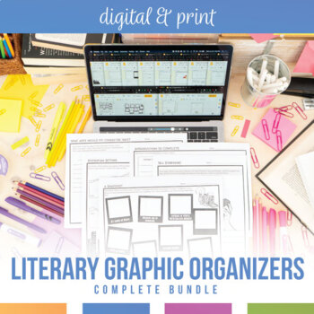 Literary Devices Graphic Organizers for Any Novel or Short Story