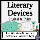 Literary Devices Activities for Google Classroom Distance