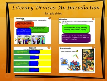 Literary Devices Introduction SmartBoard