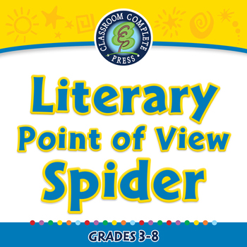 Literary Devices: Literary Point of View Spider - NOTEBOOK Gr. 3-8