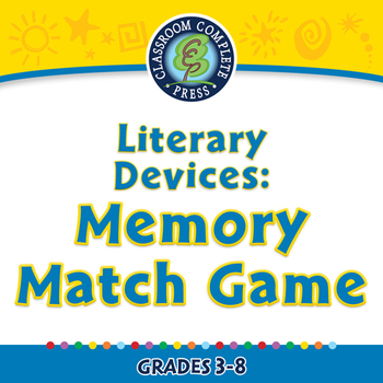 Literary Devices: Memory Match Game - NOTEBOOK Gr. 3-8