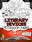 Literary Devices Notebook Pages