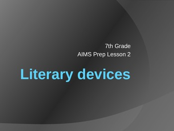 Literary Devices Overview PowerPoint
