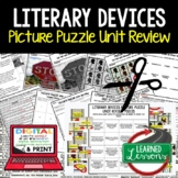 Literary Devices Picture Puzzle Study Guide Test Prep (Eng