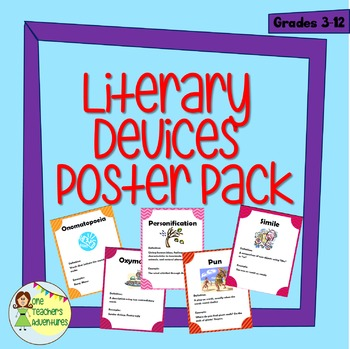 Literary Devices Poster Pack