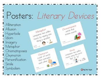 Literary Device: Literary Devices Posters (11 included!)