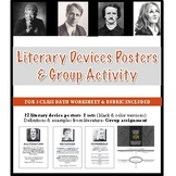 Literary Devices Posters + Group Assignment + Marking Scheme! (3 Classes)