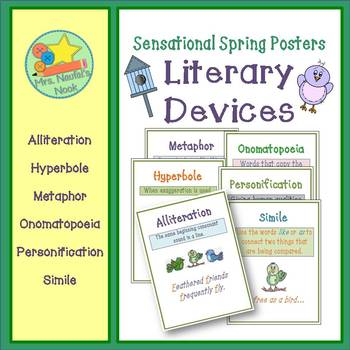 Literary Devices Posters for Spring