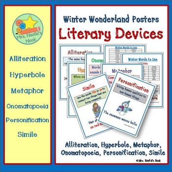 Literary Devices Posters for Winter