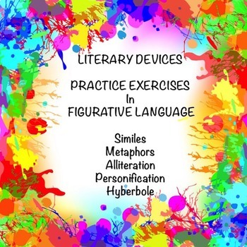 Literary Devices Practice Exercises Google Drive Digital Resource #TpTDigital