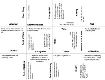 Literary Devices Puzzle