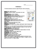 Vocabulary of Literary Devices, Reading Elements, and Language Terminology