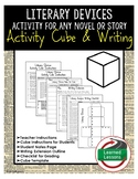 Literary Devices Activity Research Cube with Writing Exten