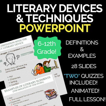 Literary Devices & Techniques PowerPoint Presentation