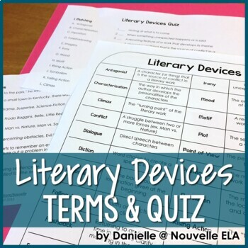 Literary Devices Terms & Quiz