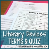 Literary Devices Terms & Quiz (paper, digital, Interactive