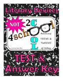 Literary Devices Test & Answer Key