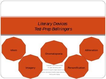 Literary Devices Test-Prep Bellringers