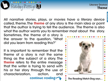 Literary Devices: Theme - NOTEBOOK Gr. 5-8