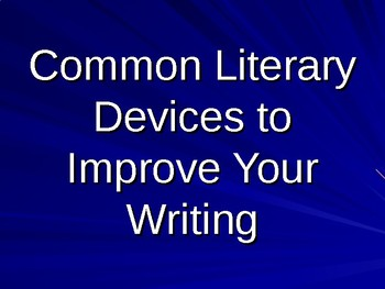 Literary Devices Vocabulary