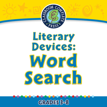 Literary Devices: Word Search - NOTEBOOK Gr. 3-8