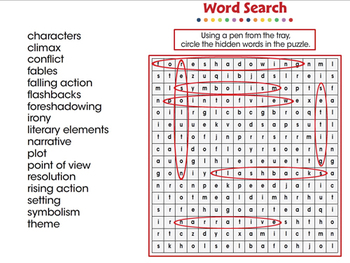 Literary Devices: Word Search - PC Gr. 3-8