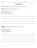 Literary Devices Worksheet